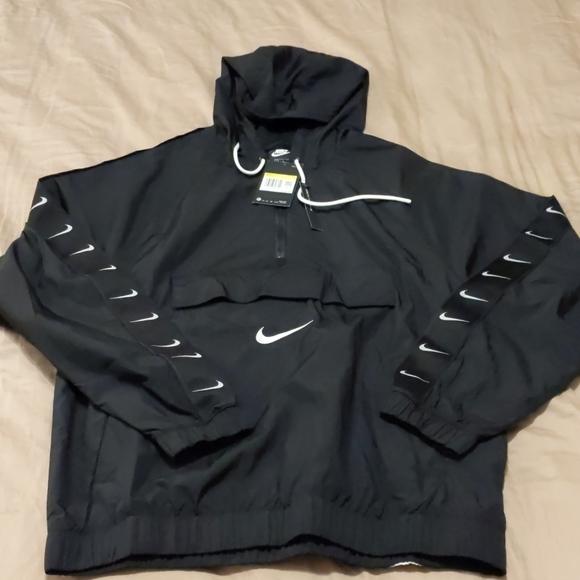 Nike Other - NWT Nike Black Swoosh Woven Anorak (Small-Medium)